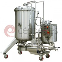 Diatomean earth filters with centrifuge unloading
