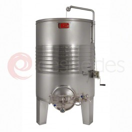 Self-emptying alwaysfull tanks (1.000 to 20.000 L) + cooling shi