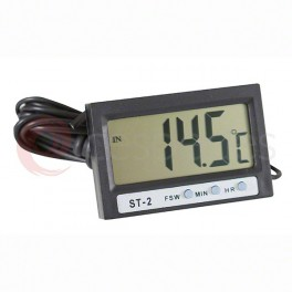 Digital thermometer. Inner/outer temperature with digital clock