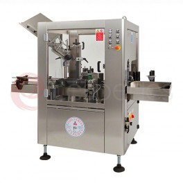 Linear automatic labeller and wine capsule machine
