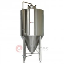 Stainless steel fermenters tapered cylindrical-200 to 5,000 litres, isobarics, isolated and with refrigeration shirts.