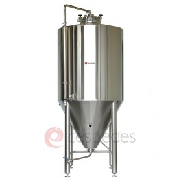 Isobaric cylindric-conical stainless steel fermenters