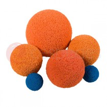 Washing ball in foam rubber