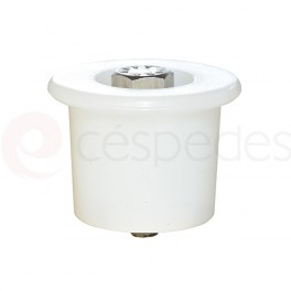 White silicone stopper with M-45 screw
