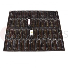 Plastic tray for 42 bottles